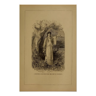 Druid By Gustave Dore Victorian Print Poster