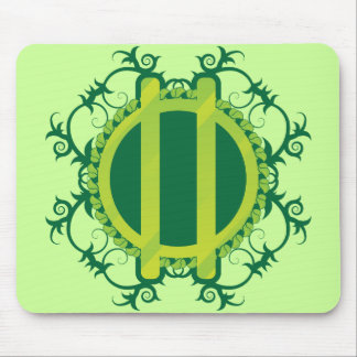 Druid Wreath and Staves Mouse Pad