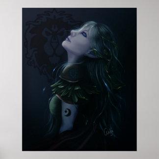 Druida de NightElf Póster
