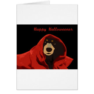 Druida del Dachshund - Halloweener feliz Tarjeta De Felicitación