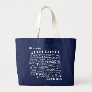 Druidas animosos animosos, bolso azul grande bolsa de tela grande