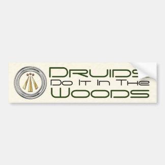"""""""Druids Do It In The Woods"""" - Bumper Sticker 2"""