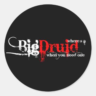 Druids Wanted Round Sticker