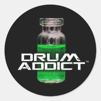 Drum Addict Classic Round Sticker