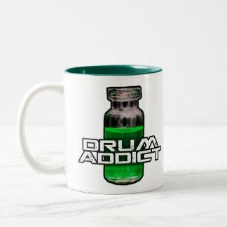 Drum Addict Two-Tone Coffee Mug