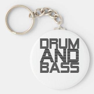 Drum and Bass Basic Round Button Keychain