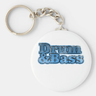 Drum and Bass Blue Keychain