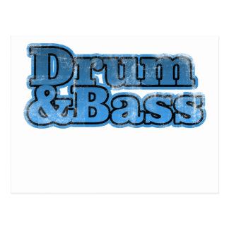 Drum and Bass Blue Postcard