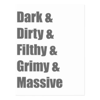 Drum and Bass DnB Electro Dub step Dubstep Grime Postcard