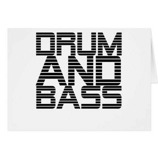 Drum and Bass Greeting Card