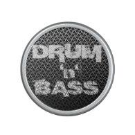 Drum and Bass Metallic Mesh Pattern Bluetooth Speaker