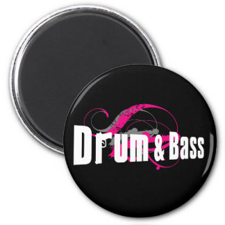 Drum and Bass Mob 2 Inch Round Magnet