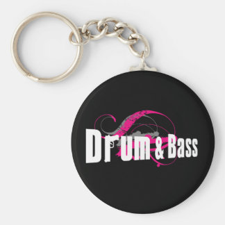 Drum and Bass Mob Basic Round Button Keychain