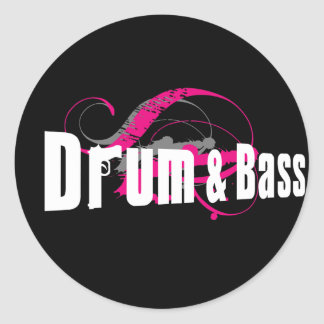Drum and Bass Mob Classic Round Sticker