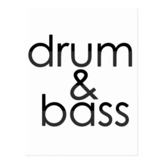 Drum and Bass Post Cards