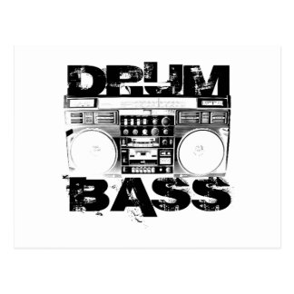 Drum and Bass Postcard