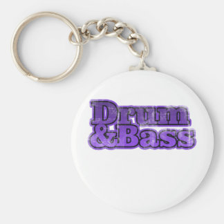 Drum and Bass Purple Keychain