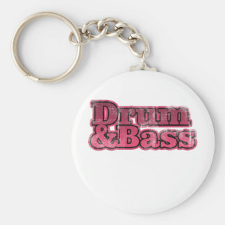 Drum and Bass Red Keychain