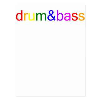 Drum and Bass Spectrum Postcard