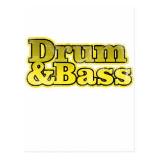 Drum and Bass Yellow Postcards