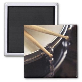 drum and drum sticks 2 inch square magnet
