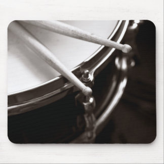 drum and drum sticks mouse pad