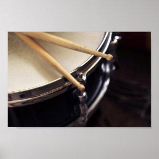 drum and drum sticks print