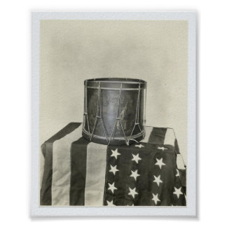 Drum and Flag 8X10 Print