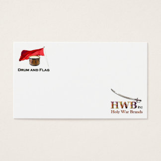 Drum and Flag Business Card