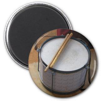 Drum and Sticks 2 Inch Round Magnet