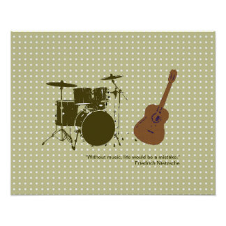 "drum and ""violão"" for walls poster"