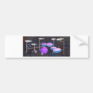 Drum Beat Bumper Sticker