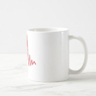 drum beat music coffee mug