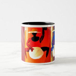 Drum Beat Two-Tone Coffee Mug