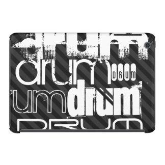 Drum; Black & Dark Gray Stripes iPad Mini Retina Cases