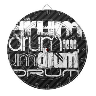 Drum; Black & Dark Gray Stripes Dartboard