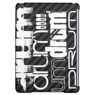 Drum; Black & Dark Gray Stripes Cover For iPad Air