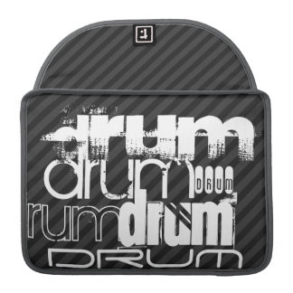 Drum; Black & Dark Gray Stripes Sleeve For MacBook Pro