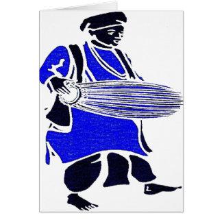 DRUM BLUE GREETING CARD