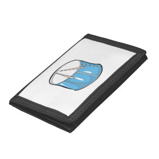 drum blue handdrawn look.png tri-fold wallet