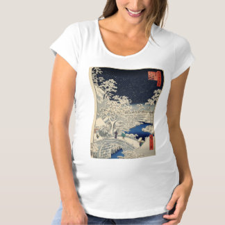 Drum Bridge at Meguro and Sunset Hill. Maternity T-Shirt