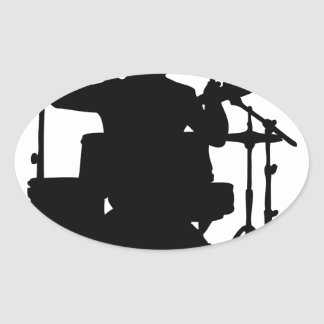 drum bull.png oval sticker