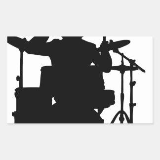 drum bull.png rectangular sticker