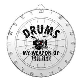 drum choice player dartboard with darts