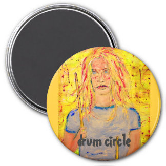 drum circle 3 inch round magnet