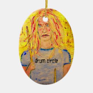 drum circle art ornaments