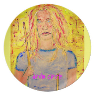 drum circle art plate