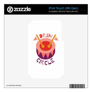 Drum Circle iPod Touch 4G Decal