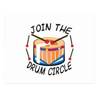 Drum Circle Postcard