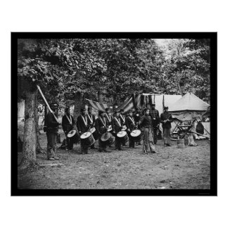 Drum Corps in Bealeton, VA 1863 Poster